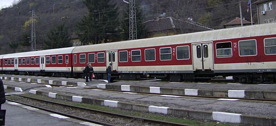 A train in Bulgaria